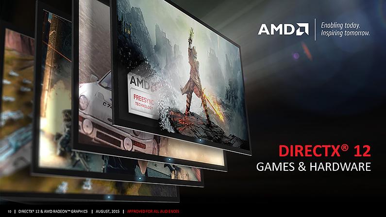 AMD採GCN架構繪圖處理器對DirectX 12支援度較為完整