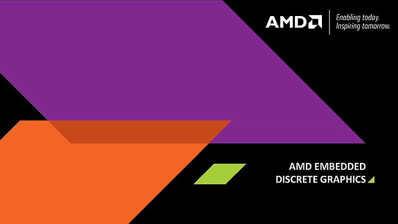 AMD新款嵌入式獨立顯示卡擁有不同效能、功耗及多種介面