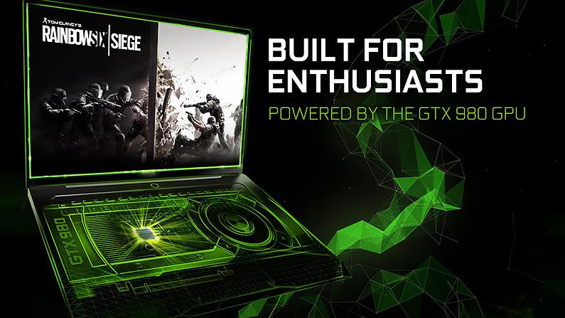 NVIDIA 把 GTX 980 塞到筆電中提供與桌上型系統相當的性能