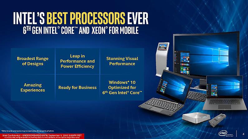 Intel宣布推出至今最佳且涵蓋面廣泛的第六代 Core處理器