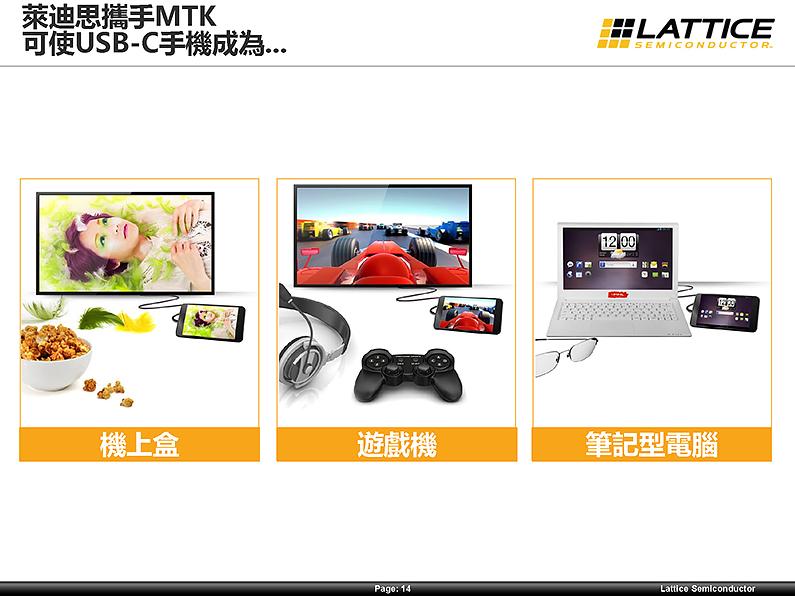 萊迪思與聯發科技合作推出手機的 USB Type-C 4K視訊方案